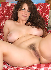 hairy granny, Cute as a button MILF with nice tits and a furry pussy