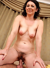 hairy girls, 50 year old Anna gets spunked on her hairy pits after a good fucking