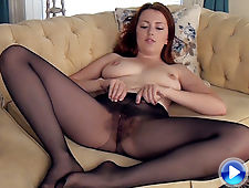 Jenny Smith undresses and plays with her body