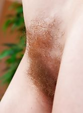 Hairy girl Josselyn shows her hairy pussy off