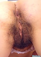 One Girl out of Million Has Such a Big Hairy Pussy and this Teen is a Lucky Owner of a Furry Twat of Dreams Showing It